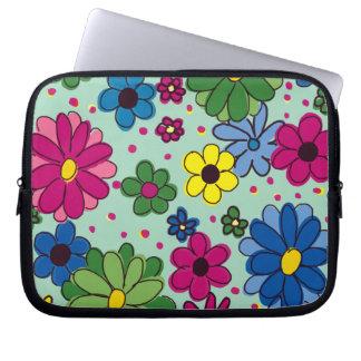 "Cute Floral ""Springtime Morning"" Laptop Sleeve"