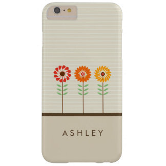 Cute Floral Sun Flowers Pattern - Natural Stylish Barely There iPhone 6 Plus Case