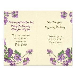 cute floral wedding program