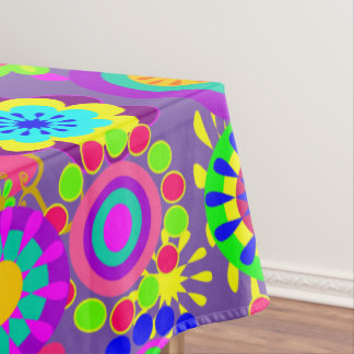 cute floral,whimsical flowers tablecloth