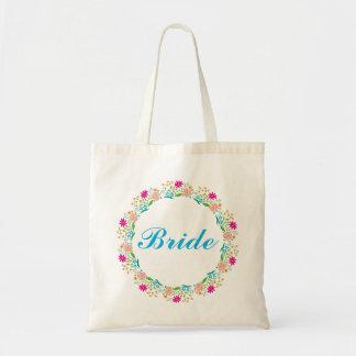 Cute Floral Wreath Summer Flowers Tote Bag