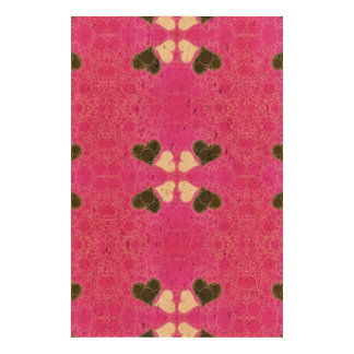 Cute Florescent Pink Heart Abstract Cork Fabric