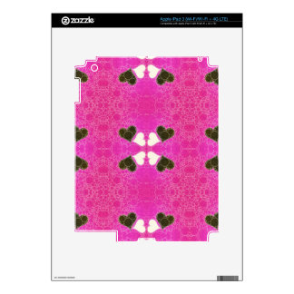 Cute Florescent Pink Heart Abstract iPad 3 Decal