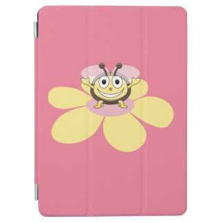Cute Flower and Smiling Cartoon Bee iPad Air Cover