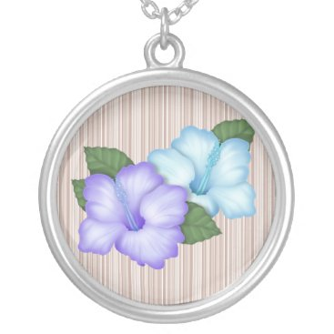 Beach Themed Cute Flower Beach Floral Silver Plated Necklace