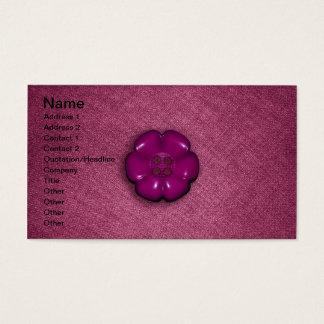 Cute Flower Button Business Card