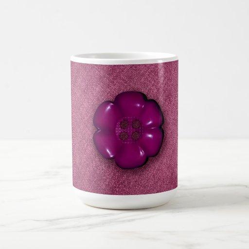 Cute Flower Button Coffee Mugs