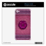 Cute Flower Button iPhone 4S Skin