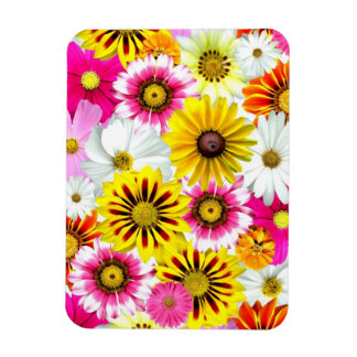Cute Flower Collage Rectangle Magnet