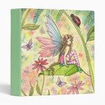 Cute Flower Fairy and Ladybug Binder