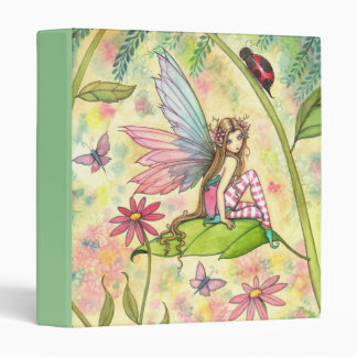 Cute Flower Fairy and Ladybug Binder
