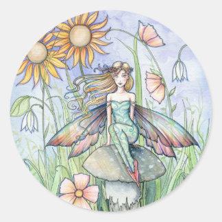 Cute Flower Fairy Art Stickers by Molly Harrison