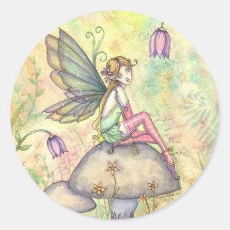 Cute Flower Fairy in Garden Stickers