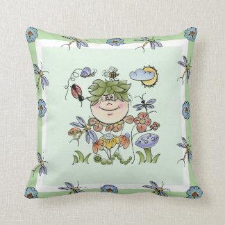 Cute Flower Garden Fairy Nursery Pillow