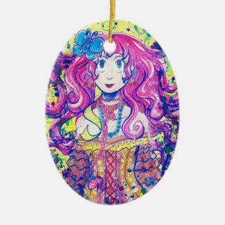 Cute Flower Girl Ornament