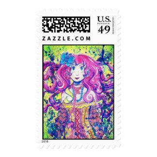 Cute Flower Girl Postage Stamp Stamp