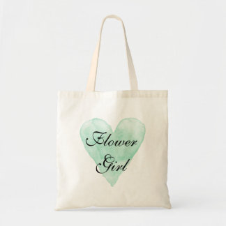 Cute flower girl tote bag for classy wedding party