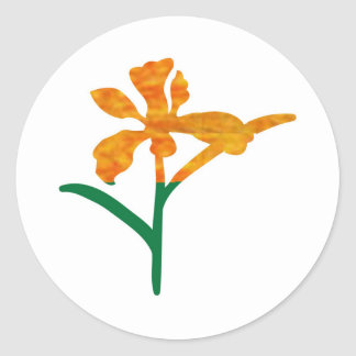 CUTE Flower Graphics : BEAUTY in Simplicity Classic Round Sticker