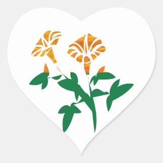 CUTE Flower Graphics : BEAUTY in Simplicity Heart Sticker