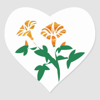 CUTE Flower Graphics : BEAUTY in Simplicity Heart Stickers