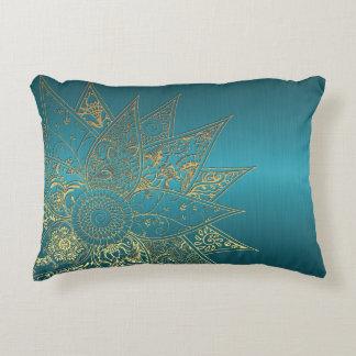 Cute flower henna hand drawn design accent pillow