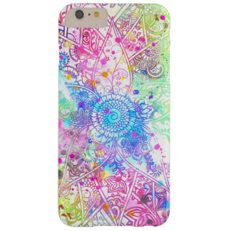 Cute flower henna hand drawn design watercolors barely there iPhone 6 plus case