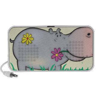 cute flower hippie hippo hippopotamus speaker system