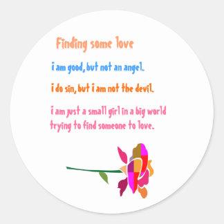CUTE Flower n matching Wisdom Words Classic Round Sticker