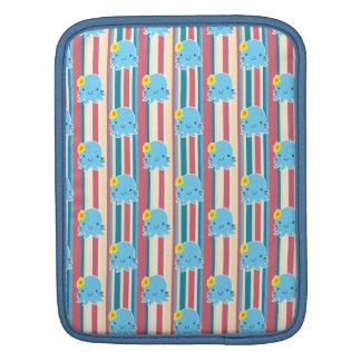 Cute Flower Octopus Stripes Pattern iPad Sleeves