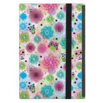Cute flower owl background pattern iPad mini cover