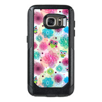 Cute flower owl background pattern OtterBox samsung galaxy s7 case