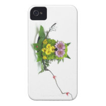 Cute Flower Owl iPhone 4 Cover