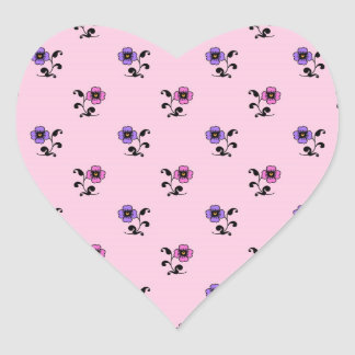 Cute Flower Pattern on Pale Pink Stickers