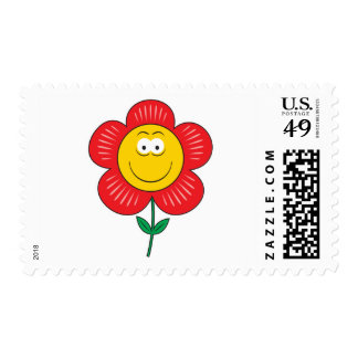 Cute Flower  Smiley Face Postage