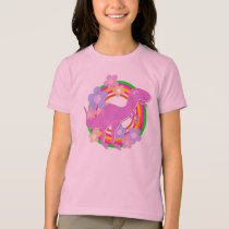 Cute Flower T-Rex Dinosaur T-Shirt