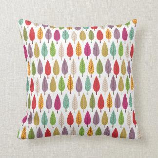 Cute flower tree forrest retro pattern pillows