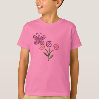 Cute Flower with Butterfly shirt