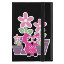 Cute Flowers And Owl Cover For iPad Mini