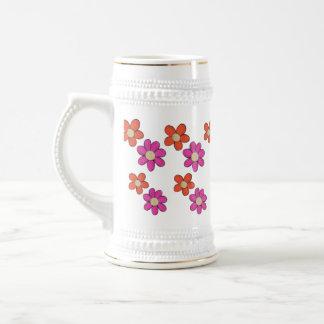 Cute Flowers Beer Stein