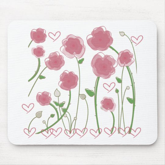 Cute Flowers design! Unique gifts! Mouse Pad