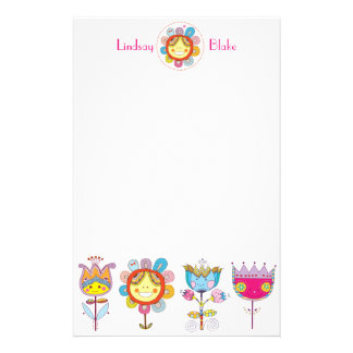 Cute Flowers Stationery