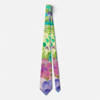 Cute flowers Watercolor hand paint design Tie