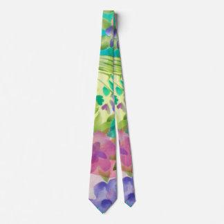 Cute flowers Watercolor hand paint design Tie