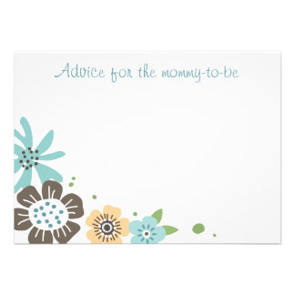 Cute flowers words of advice flat note card