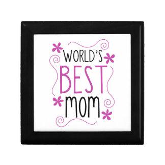 Cute Flowery World's Best Mom Keepsake Box