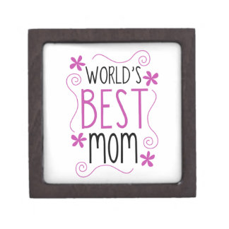 Cute Flowery World's Best Mom Premium Gift Boxes
