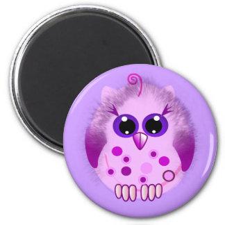 Cute Fluffy Baby Owl Magnet
