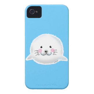 Cute fluffy baby seal Case-Mate iPhone 4 cases