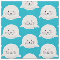 Cute fluffy baby seal fabric