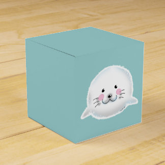 Cute fluffy baby seal favor box